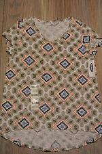 OLD NAVY Short Sleeve MULTI-COLOR T-shirt Geometric Pattern Girls Sz M 8  *NWT*