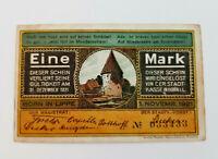HORN IN LIPPE NOTGELD 1 MARK 1921 NOTGELDSCHEIN (12126)