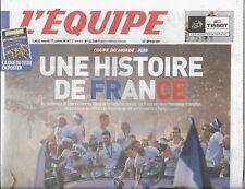 L'EQUIPE n°23366 17/07/2018 Champions du monde!: Une histoire de France + poster