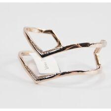 Vera Bradley Gold Sparkling Crystal Chevron Open Cuff Bangle Bracelet