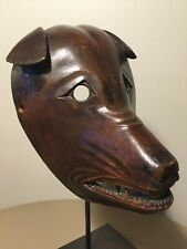 Exceptionally Rare: Antique (1800s), Japanese/Japan, Wooden Kitsune (Fox) Mask!