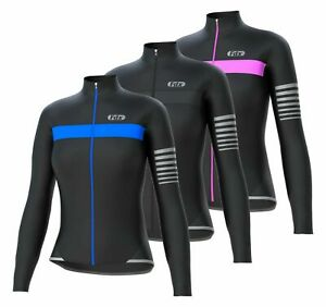 "FDX Womens ""ALL DAY"" Cycling Jersey Long Sleeve Top Thermal MTB Winter Jackets"