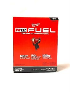 """Milwaukee 2555-20 M12 Fuel Stubby 1/2"""" Impact Wrench (Tool Only) New!!!"""