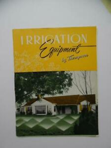 1958 Thompson Mfg. Co. Lawn Sprinkler Irrigation Equipment Catalog Vintage ORIG