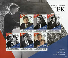 Young Island Gren St Vincent 2017 MNH JFK John F Kennedy 100th 6v M/S III Stamps