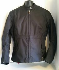 POWER TRIP Motorcycle Armored Jacket Womens Size Large Black Nylon Quilted Liner