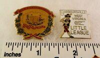 2 Little League Baseball PINs - West Virginia Barboursville (cloissonne)