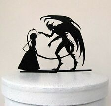 wedding cake topper  - Halloween Wedding Cake Topper, Devil Silhouette Wedding C