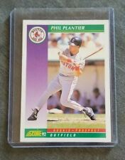 1992 Score Baseball Card #406 Phil Plantier - Red Sox