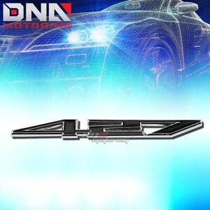 FOR 427 Z06 7.0 STICK ON 3D CHROME BLACK AUTO BODY METAL EMBLEM TRIM BADGE LOGO