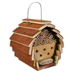 Natures Market Wooden Insect House Home Hotel Garden Bug Bee Ladybird Nest Box