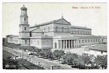 Vintage Postcard Italy 1910 Roma Rome Basilica Di San Paolo Lazio