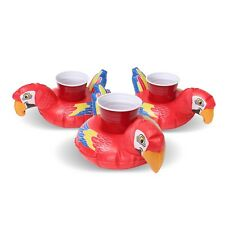 GoFloats Inflatable Tropical Parrot Drink Float! [3-Pack]