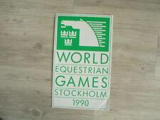 STICKER,DECAL WORLD EQUESTRIAN GAMES STOCKHOLM 1990 BIG SIZE 33 CM