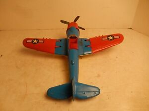 Vintage Hubley Toy Airplane 495 Fighter Bomber Good Condition