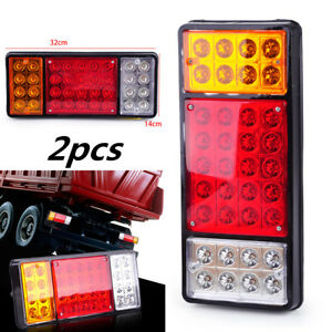 2pcs 36 LED Ute Rear Trailer Tail Lights Caravan Truck Car Indicator Lamp DC 12V
