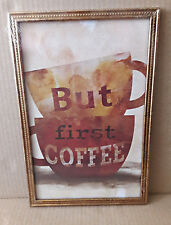 Kitchen Wall Decor BUT FIRST COFFEE Hanging Art Prints Graphic Art