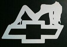 Chevy girl silhouette window/bumper sticker vinyl decal