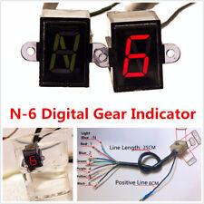 12V Universal Motorbike ATV 6 Speed N6 Digital Gear Indicator Display Waterproof