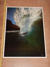 "Vintage Original 1970s Silver Curl Surfing Photo Poster David ""Woody"" Woodworth"