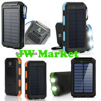 2020 Waterproof 900000 mAh Dual USB Portable Solar Power Bank Charger For Phone