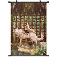 Anime Poster Mononoke Hime Princess Home Decor wall Scroll 60*90cm