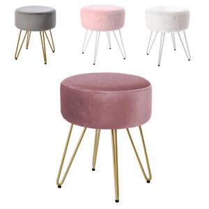 Velvet Dressing Table Stool Vanity Chair Makeup Stools Home Office Footstool NEW