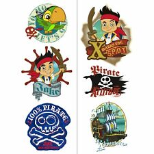 Jake and the Never Land Pirates Kids Birthday Party Favor Temporary Tattoos