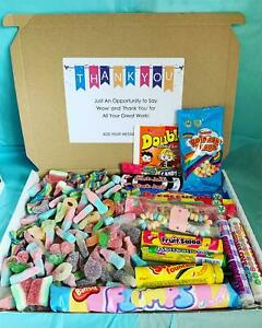 Pic N Mix Sweet Boxes Personalised Hampers Gift Candy Retro