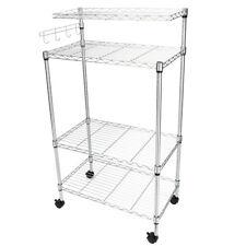 4 Tier Kitchen Bakers Rack Microwave Oven Stand Storage Cart Workstation Shelf