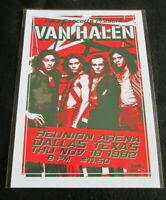 VAN HALEN : DALLAS TEXAS 1982 : A4 GLOSSY REPO POSTER