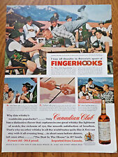 1956 Canadian Club Whiskey  Ad   Bavaria Sport of Fingerhooks Fingerhakelm