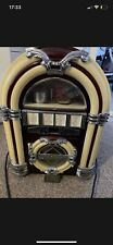 More details for vintage 1950s style - retro jukebox radio cassette player - wooden