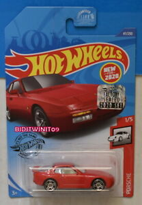 HOT WHEELS 2020 '89 PORSCHE 944 TURBO #47/250 RED FACTORY SEALED W+