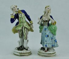 Pair of antique German porcelain figurines, marked. (BI#MK/0317.TMP)