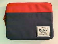Herschel Supply Red Blue Pouch With Zipper For Tablet/Small Laptop Etc