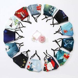 Masque protection tissu Coton Réglable Avec Ajusteur lavable réutilisable Noël