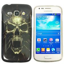 Hülle f Samsung Galaxy Ace 3 S7275 S7270 Schutz Case Cover TPU Silikon Totenkopf