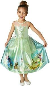 Girls Tiana Costume Kids Disney Princess Fancy Dress Childs