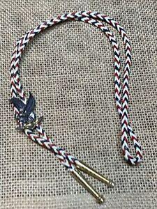 Vintage Bolo Tie Lattice Style Eagle crest metal freemasons? Masonic?