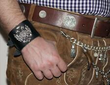 Armband Trachtenarmband schwarz z. Lederhose neu Lederband Oktoberfest Tracht