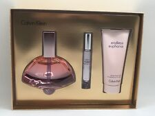 Endless Euphoria by Calvin Klein Gift Set 4.0 Oz EDP + LOTION + MINI NIB