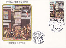 1979 Liberia Scouting / Norman Rockwell Commem.Fdc Cover - Scouting Is Outing