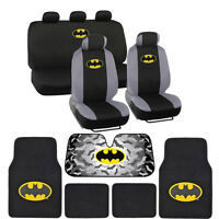 Batman Seat Covers, Floor Mats, Auto Shade for Car & SUV - Full Set