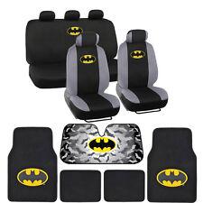 Batman Seat Covers, Floor Mats, Auto Shade for Car & SUV - Full Set
