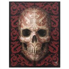 Anne Stokes Canvas Oriental Skull - 19 x 25 cm - fairy - unicorn - gothic