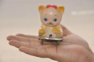 Vintage Wind Up Jumping Cat Fine Litho Tin & Bakelite Toy, Japan?