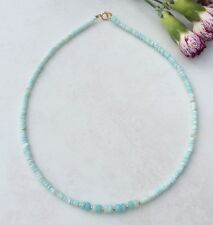 "PERUVIAN OPAL NECKLACE   17.25 "" 14k gold filled beads"