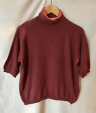 7f5c79c11ae United Colors Of Benetton Women s Burgundy Turtleneck Pullover Knit Top  Size S