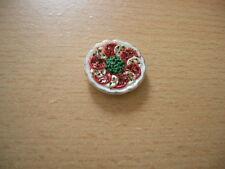 Teller Tomaten Tomato Mozarrella Salad Dollhouse Puppenstube 1:12 Art 2069